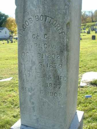 BOTTORFF (CW), JACOB - Mifflin County, Pennsylvania   JACOB BOTTORFF (CW) - Pennsylvania Gravestone Photos