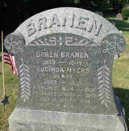 BRANEN (CW), ORREN - Mifflin County, Pennsylvania | ORREN BRANEN (CW) - Pennsylvania Gravestone Photos
