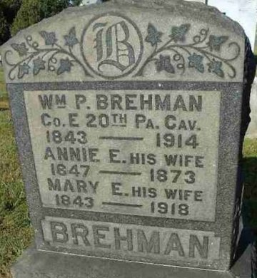 BREHMAN (CW), WILLIAM P. - Mifflin County, Pennsylvania | WILLIAM P. BREHMAN (CW) - Pennsylvania Gravestone Photos