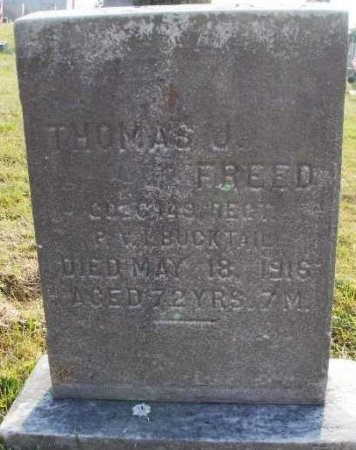 FREED (CW), THOMAS JOHN - Mifflin County, Pennsylvania | THOMAS JOHN FREED (CW) - Pennsylvania Gravestone Photos