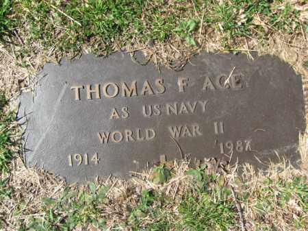 ACE (WW II), THOMAS F. - Monroe County, Pennsylvania | THOMAS F. ACE (WW II) - Pennsylvania Gravestone Photos