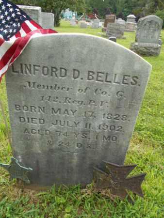 BELLES (CW), LINFORD D. - Monroe County, Pennsylvania | LINFORD D. BELLES (CW) - Pennsylvania Gravestone Photos