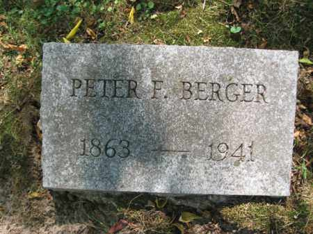 BERGER, PETER - Monroe County, Pennsylvania | PETER BERGER - Pennsylvania Gravestone Photos
