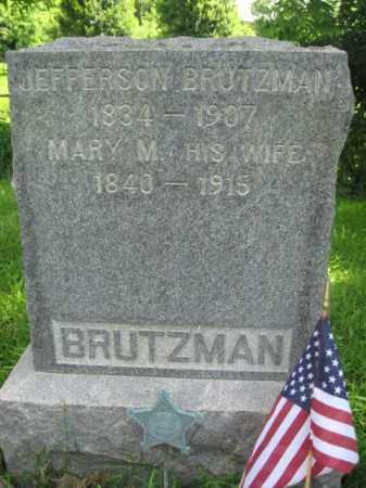 BRUTZMAN (CW), JEFFERSON - Monroe County, Pennsylvania | JEFFERSON BRUTZMAN (CW) - Pennsylvania Gravestone Photos