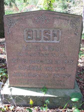 BUSH   (CW), DANIEL S. - Monroe County, Pennsylvania | DANIEL S. BUSH   (CW) - Pennsylvania Gravestone Photos
