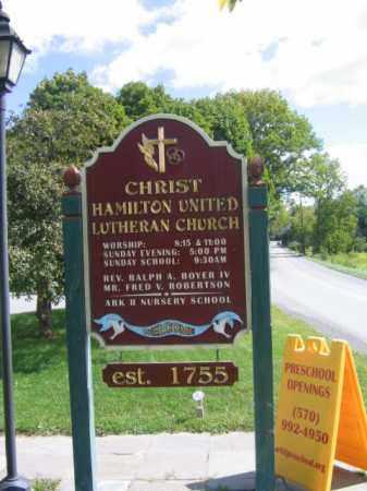 CEMETERY SIGN, CHRIST HAMILTON LUTHERAN - Monroe County, Pennsylvania   CHRIST HAMILTON LUTHERAN CEMETERY SIGN - Pennsylvania Gravestone Photos