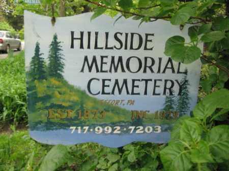 CEMETERY SIGN, HILLSIDE MEMORIAL - Monroe County, Pennsylvania   HILLSIDE MEMORIAL CEMETERY SIGN - Pennsylvania Gravestone Photos