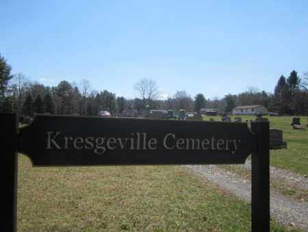 CEMETERY SIGN, KRESGEVILLE - Monroe County, Pennsylvania | KRESGEVILLE CEMETERY SIGN - Pennsylvania Gravestone Photos