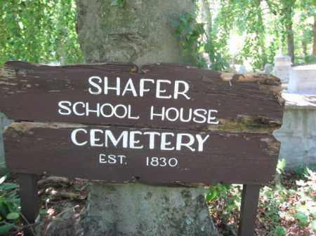 CEMETERY SIGN, SHAFER SCHOOLHOUSE - Monroe County, Pennsylvania | SHAFER SCHOOLHOUSE CEMETERY SIGN - Pennsylvania Gravestone Photos