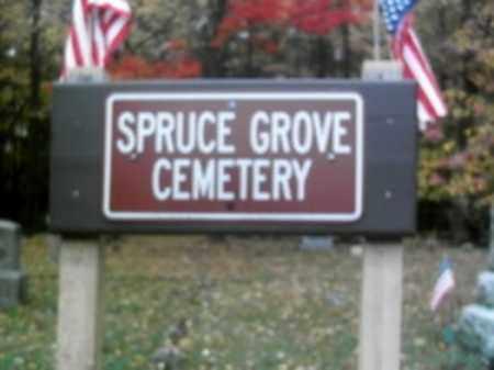 CEMETERY SIGN, SPRUCE GROVE - Monroe County, Pennsylvania   SPRUCE GROVE CEMETERY SIGN - Pennsylvania Gravestone Photos