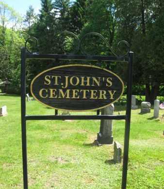 CEMETERY SIGN, ST. JOHN'S - Monroe County, Pennsylvania | ST. JOHN'S CEMETERY SIGN - Pennsylvania Gravestone Photos