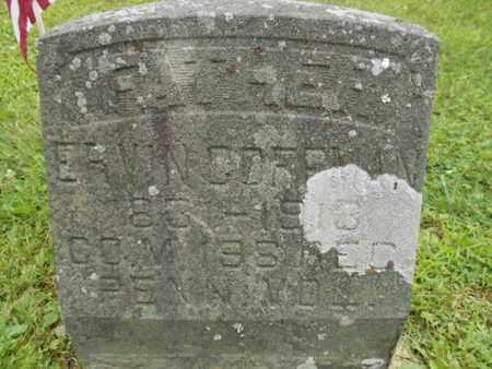 COFFMAN (CW), ERVIN - Monroe County, Pennsylvania   ERVIN COFFMAN (CW) - Pennsylvania Gravestone Photos