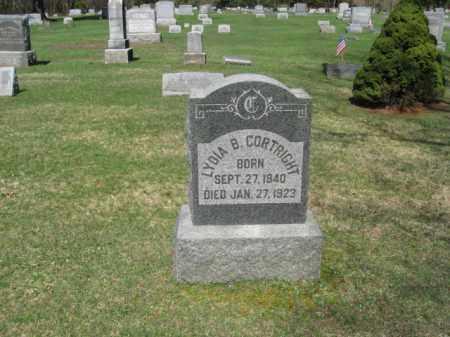 CORTRIGHT, LYDIA B. - Monroe County, Pennsylvania | LYDIA B. CORTRIGHT - Pennsylvania Gravestone Photos