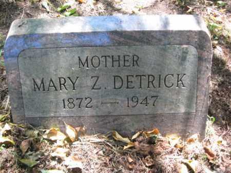 DETRICK, MARY Z. - Monroe County, Pennsylvania   MARY Z. DETRICK - Pennsylvania Gravestone Photos