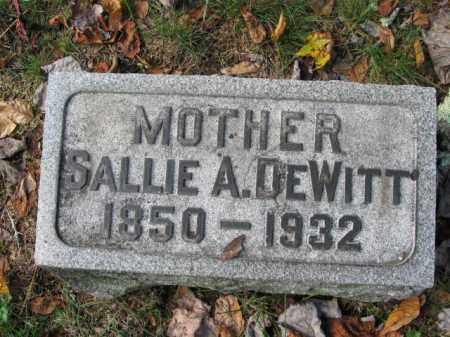 DEWITT, SALLIE A. - Monroe County, Pennsylvania   SALLIE A. DEWITT - Pennsylvania Gravestone Photos