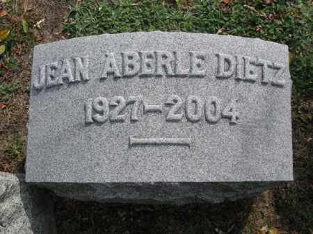 DIETZ, JEAN ABERLE - Monroe County, Pennsylvania | JEAN ABERLE DIETZ - Pennsylvania Gravestone Photos