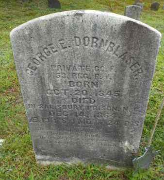 DORNBLASER (CW), GEORGE E. - Monroe County, Pennsylvania | GEORGE E. DORNBLASER (CW) - Pennsylvania Gravestone Photos