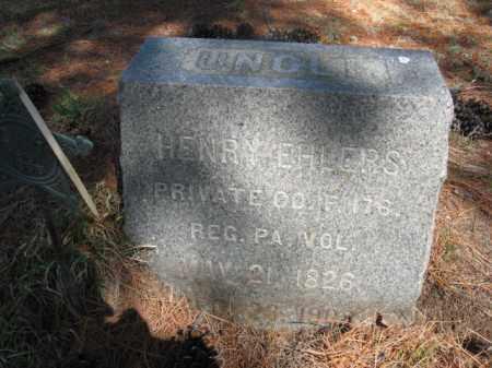 EHLERS (CW), HENRY - Monroe County, Pennsylvania | HENRY EHLERS (CW) - Pennsylvania Gravestone Photos