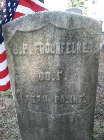 FROUNFELKER (FROWNFELKER) (CW), JAMES P. - Monroe County, Pennsylvania   JAMES P. FROUNFELKER (FROWNFELKER) (CW) - Pennsylvania Gravestone Photos