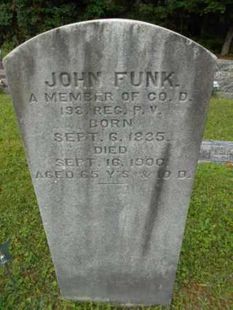 FUNK (CW), JOHN - Monroe County, Pennsylvania   JOHN FUNK (CW) - Pennsylvania Gravestone Photos