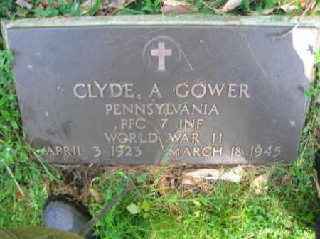 GOWER (WW II), CLYDE A. - Monroe County, Pennsylvania   CLYDE A. GOWER (WW II) - Pennsylvania Gravestone Photos