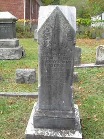 HALLET, WILLIAM - Monroe County, Pennsylvania   WILLIAM HALLET - Pennsylvania Gravestone Photos