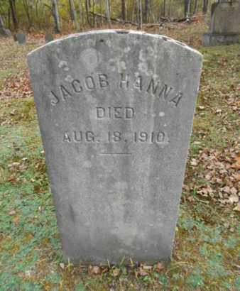 HANNA, JACOB - Monroe County, Pennsylvania | JACOB HANNA - Pennsylvania Gravestone Photos