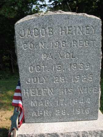 HEINEY (CW), JACOB - Monroe County, Pennsylvania | JACOB HEINEY (CW) - Pennsylvania Gravestone Photos