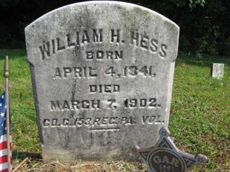 HESS, WILLIAM H. - Monroe County, Pennsylvania | WILLIAM H. HESS - Pennsylvania Gravestone Photos