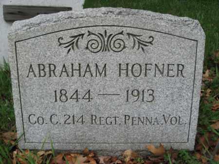 HOFNER (CW), ABRAHAM - Monroe County, Pennsylvania | ABRAHAM HOFNER (CW) - Pennsylvania Gravestone Photos