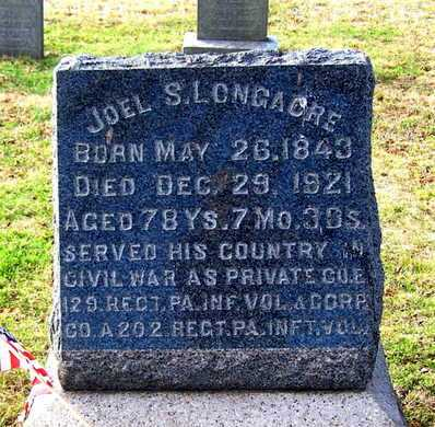LONGACRE (CW), JOEL S. - Monroe County, Pennsylvania | JOEL S. LONGACRE (CW) - Pennsylvania Gravestone Photos