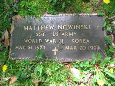 NOWINSKI (WW II), MATTHEW - Monroe County, Pennsylvania | MATTHEW NOWINSKI (WW II) - Pennsylvania Gravestone Photos