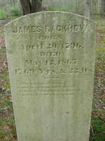 RACKHOW, JAMES - Monroe County, Pennsylvania | JAMES RACKHOW - Pennsylvania Gravestone Photos
