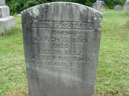 SETZER, JACOB H. - Monroe County, Pennsylvania   JACOB H. SETZER - Pennsylvania Gravestone Photos