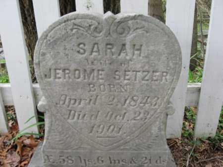 SETZER, SARAH - Monroe County, Pennsylvania   SARAH SETZER - Pennsylvania Gravestone Photos