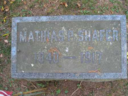 SHAFER (CW), MATHIAS P. - Monroe County, Pennsylvania | MATHIAS P. SHAFER (CW) - Pennsylvania Gravestone Photos