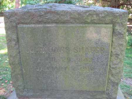 SHAFER, JOHN DAVIS - Monroe County, Pennsylvania | JOHN DAVIS SHAFER - Pennsylvania Gravestone Photos