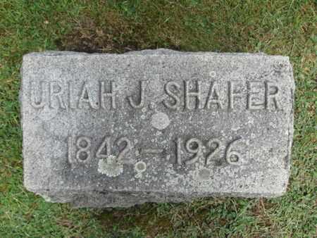 SHAFER, URIAH J. - Monroe County, Pennsylvania | URIAH J. SHAFER - Pennsylvania Gravestone Photos
