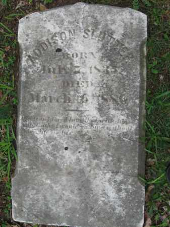 SLUTTER (CW), ADDISON - Monroe County, Pennsylvania | ADDISON SLUTTER (CW) - Pennsylvania Gravestone Photos