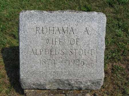 STOUT, RUHAMA  A. - Monroe County, Pennsylvania | RUHAMA  A. STOUT - Pennsylvania Gravestone Photos
