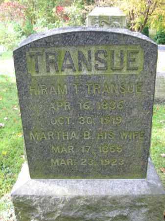 TRANSUE, HIRAM T. - Monroe County, Pennsylvania | HIRAM T. TRANSUE - Pennsylvania Gravestone Photos