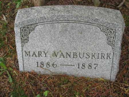 VANBUSKIRK, MARY - Monroe County, Pennsylvania | MARY VANBUSKIRK - Pennsylvania Gravestone Photos
