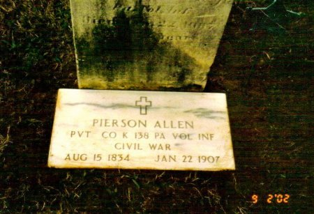 ALLEN  (CW), PIERSON - Montgomery County, Pennsylvania | PIERSON ALLEN  (CW) - Pennsylvania Gravestone Photos