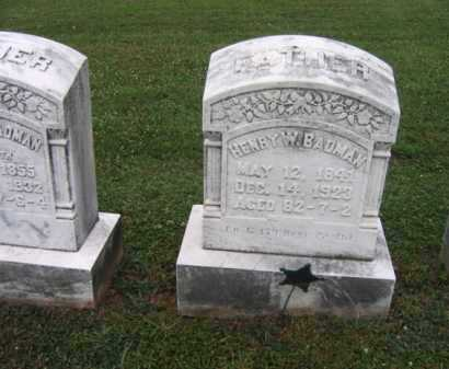 BADMAN  (CW), HENRY W. - Montgomery County, Pennsylvania | HENRY W. BADMAN  (CW) - Pennsylvania Gravestone Photos
