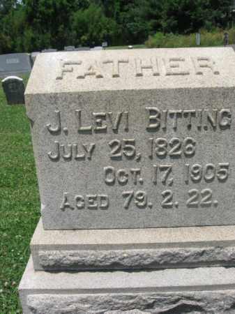 BITTING, J. LEVI - Montgomery County, Pennsylvania | J. LEVI BITTING - Pennsylvania Gravestone Photos
