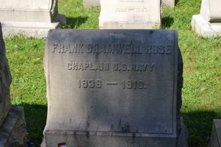 ROSE (CW), FRANK BRAMWELL - Montgomery County, Pennsylvania   FRANK BRAMWELL ROSE (CW) - Pennsylvania Gravestone Photos