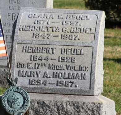 DEUEL (CW), HERBERT - Montgomery County, Pennsylvania   HERBERT DEUEL (CW) - Pennsylvania Gravestone Photos