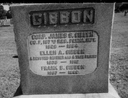 GIBBON (CW), JAMES - Montgomery County, Pennsylvania | JAMES GIBBON (CW) - Pennsylvania Gravestone Photos