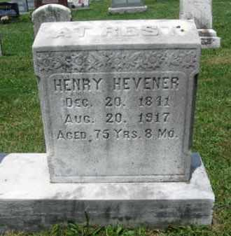 HEVENER, HENRY - Montgomery County, Pennsylvania | HENRY HEVENER - Pennsylvania Gravestone Photos