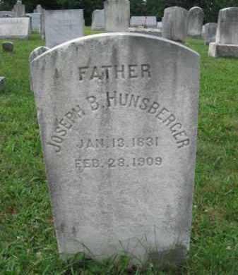 HUNSBERGER, JOSEPH B. - Montgomery County, Pennsylvania | JOSEPH B. HUNSBERGER - Pennsylvania Gravestone Photos